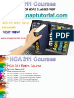 HCA 311 Academic Success /snaptutorial