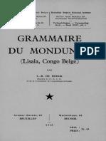 L.-B. de Boeck. Grammaire Du Mondunga 1952