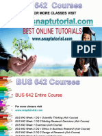 BUS 642 Apprentice tutors / snaptutorial