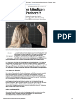 20 Minuten - Zürcher Lehrer Kündigen Schon in Der Probezeit - News