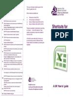 Keyboard Shortcuts - Excel