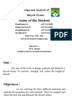 Design and Analysis of Bicycle Frame