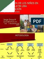 Pobreza Infancia America Latina Oroza