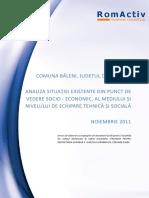 Comuna Baleni - Analiza situatiei existente din punct de vedere socio-economic, al mediului si nivelului de echipare tehnica si sociala.pdf
