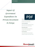 Impact of Government Expenditure on Private Investment in Kenya-Very Good