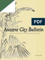 Ancient City Bulletin - January 2016