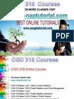 CGD 318 Apprentice tutors / snaptutorial