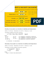 Density&Viscosity Calculator