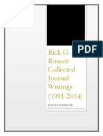 Rick g Rosner Collected Journal Writings