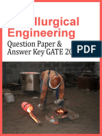 GATE 2013 Question Paper - Metallurgical Engineering & Answer Key