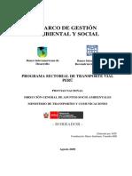 Marco de Gestion Ambiental y Social - SWAP -Version Final Borrador