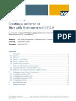 Creating a Universe on Hadoop Hive Jan 2014