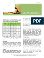 DBLM Solutions Carbon Newsletter 30 July 2015