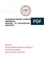 Aluminium Based Composite Materials Applied to Automotive Industry