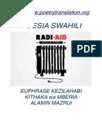 Poesia Swahili [Kezilahabi_Kithaka wa Mberia_Alamin Mazrui]