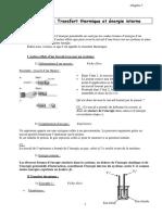 Physique-Chapitre7-Transfert Thermique Et Energie Interne
