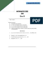 Mathematics CBSE Class 11 Sample Paper