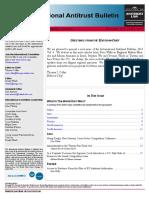 ABA International Antitrust Committee Quarterly Newsletter - Dec. 2015