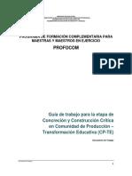 Guía de Trabajo Para La Etapa de Concreción y Construcción Crítica