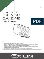 Manual usuario Casio EX-N5