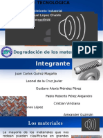 degradación de materiales