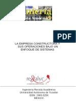 La Empresa Constructora y Sus Operaciones Bajo Un Enfoque de Sistemas