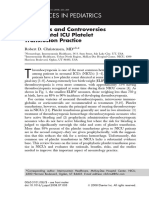 Advances and Controversies in Neonatal ICU Platelet Transfusion Practice