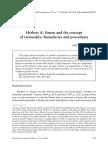 Gustavo Barros Herbert a. Simon e o Conceito de Racionalidade