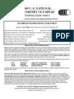 2009 Usnco Exam Part i