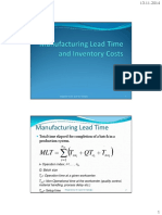 9-Manufacturing Lead Time and Inventory Costs
