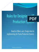 12-Rules for Designing a JIT Production System