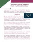 Reglamento de Estudios de Posgrado IPN.