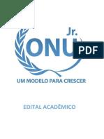 Edital Acadêmico XIV Onu Jr