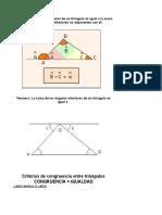 Teoremas de Triangulos y Angulos