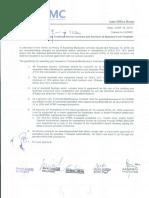 Memo- Technical Service Contract
