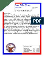 Sand Springs Elks January 2016 Newsletter