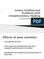 Complimentary Feeding and Problems With Complementary Feeding
