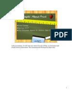 Concepts of Print Script