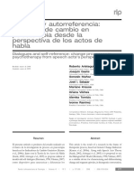 Dialogos y Autorreferencia Procesos de Cambio en Psicoterapia Desde La Perspectiva de Los Actos de Habla