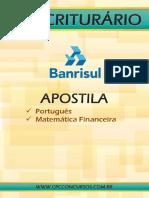 BANRISUL Escriturário BLOG Português e M. Financeira