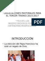 Orientaciones Pastorales Para El Tercer Trienio 2015-2017