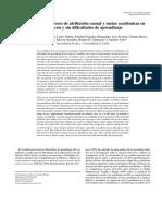 Autoconcepto, Proceso de Atribución Causal y Metas Académicas En