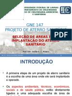 Gne 147 - Projeto de Aterro Sanitario - Aula 02 - Selecao de Areas