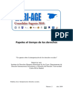 Rafael de Asis Notas Sobre La Interpretacion de Los Derechos Sociales