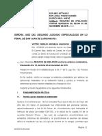 MODELO Apelacion Contra Segundo Juzgado Penal de Sjl 03 Noviembre