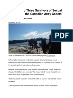 26 Nov 2014 - We Spoke to Three Sexual Abuse Survivors From the Canadian Army Cadets