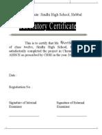 investigatory Project on Preparation of Potash Alum From Scrap Aluminium