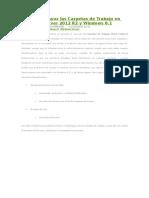 Cómo Configurar Las Carpetas de Trabajo en Windows Server 2012 R2 y Windows 8