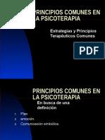 Principios Comunes en La Psicoterapia
