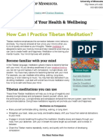 How Can I Practice Tibetan Meditation? | Taking Charge of Your Health & Wellbeing